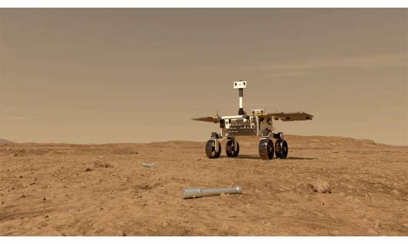 Martian rover motors ahead