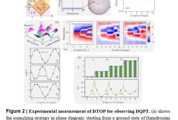 Measuring a dynamical topological order parameter in quantum walks