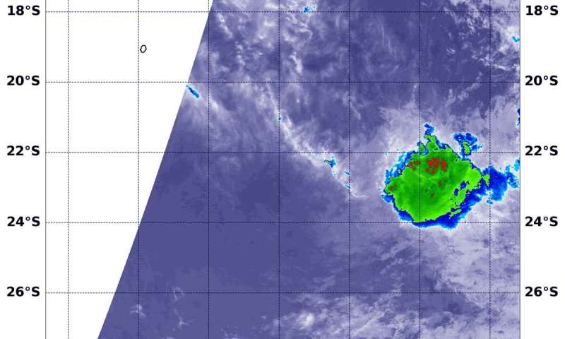 NASA catches the dying remnants of Tropical Cyclone 12P