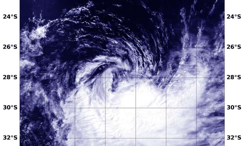 NASA finds wind shear affecting tropical cyclone Uesi