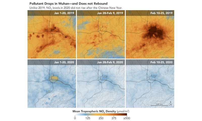 NASA images show fall in China pollution over virus shutdown