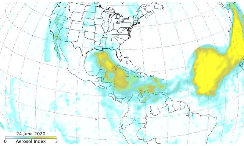NASA-NOAA's Suomi NPP satellite analyzes Saharan dust aerosol blanket