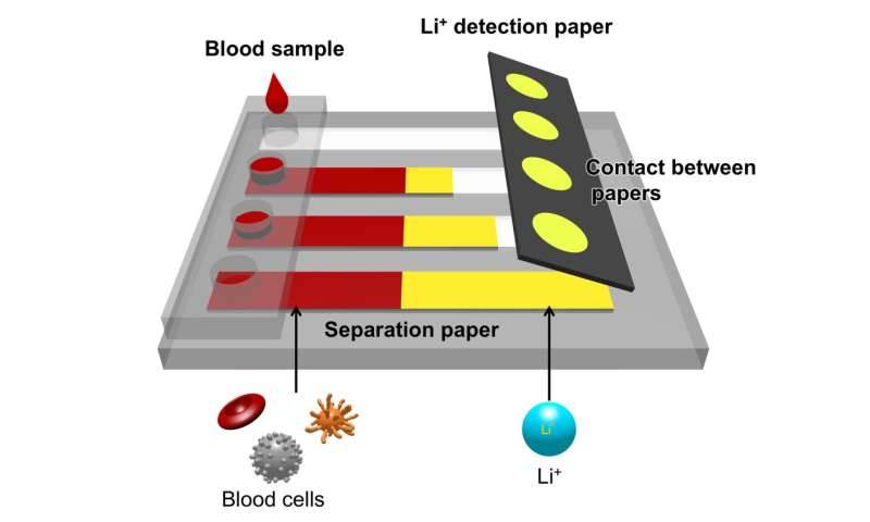New device quickly detects lithium ions in blood of bipolar disorder patients