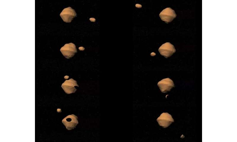 New small satellite for meeting binary asteroids