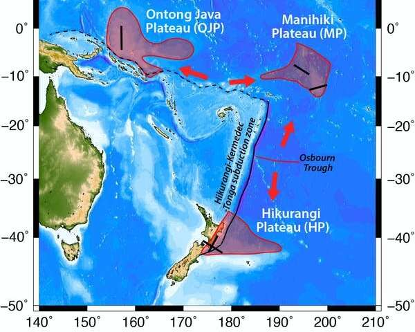 New Zealand sits on top of the remains of a giant ancient volcanic plume