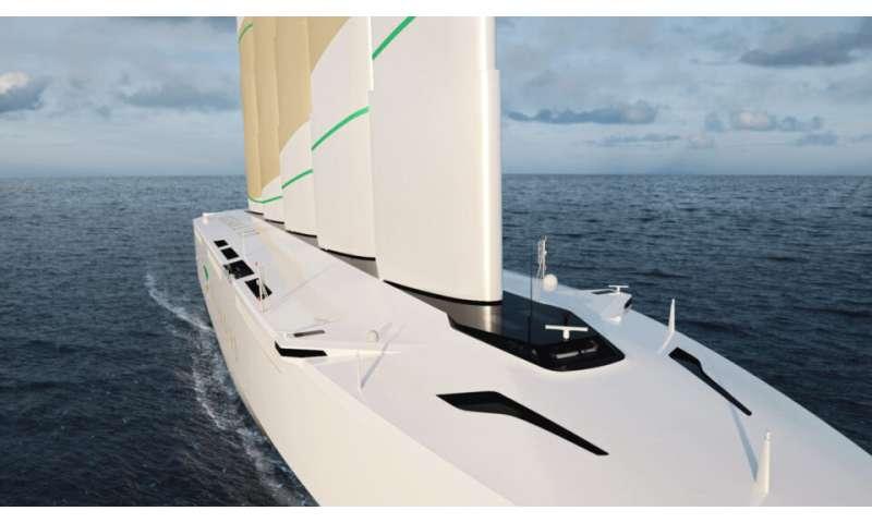 Le cargo Oceanbird compte sur le vent pour transporter des voitures