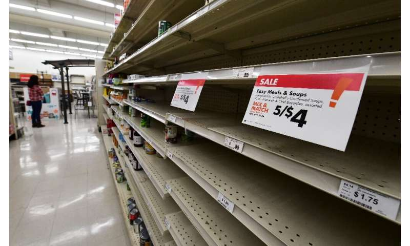 Panic-buying has been seen around the world as people stock up on essentials fearing a lengthy period of enforced quarantine