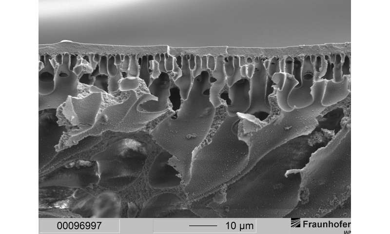 Polymer membranes facilitate the exchange of oxygen in the body
