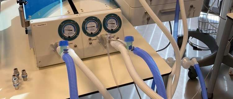 Shared use of ventilation machines is possible in emergency situations