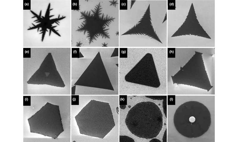 Study: Mapping crystal shapes could fast-track 2D materials