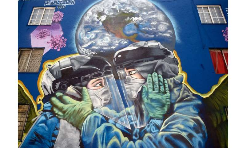 The pandemic is gaining ground in Latin America, including in Mexico where this mural was painted