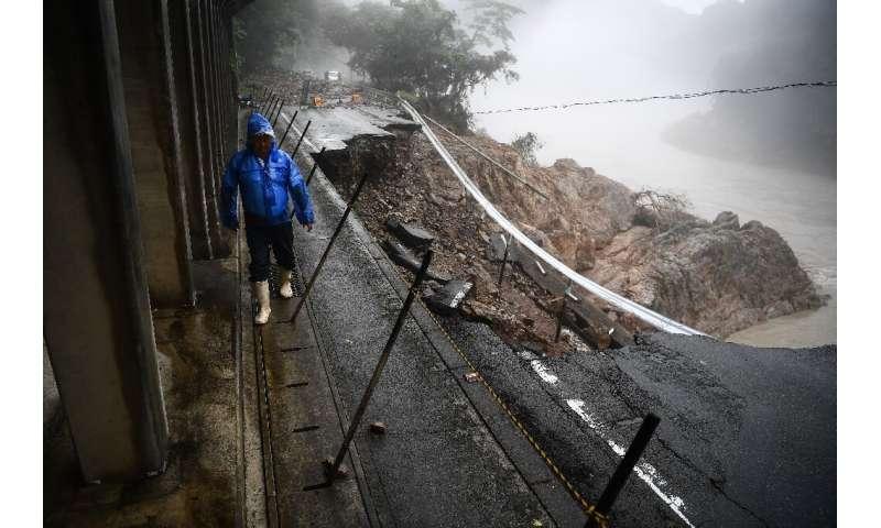The rains have left conditions treacherous