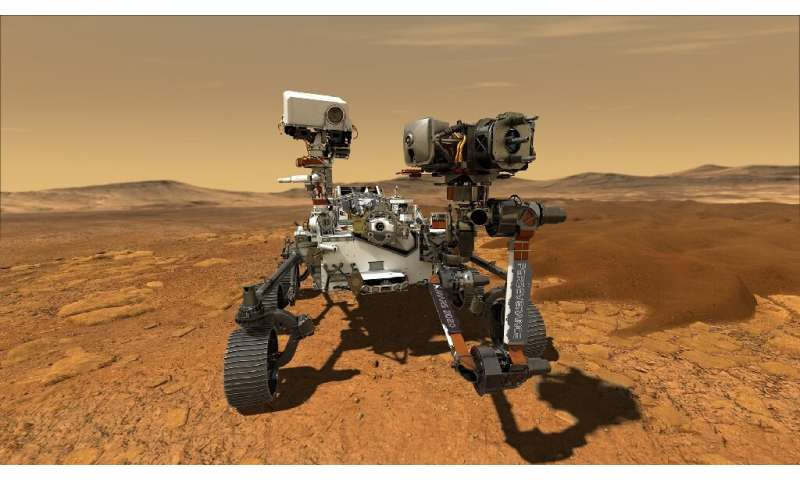 The six-wheeled robot, which is about the size of an SUV and weighs 2,300 pounds (1,040 kilograms), is NASA's fifth Mars rover a