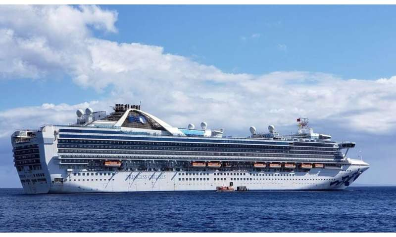 This photo taken and released by Carolyn Wright shows the Grand Princess cruise ship during a voyage to Hawaii in February, 2020