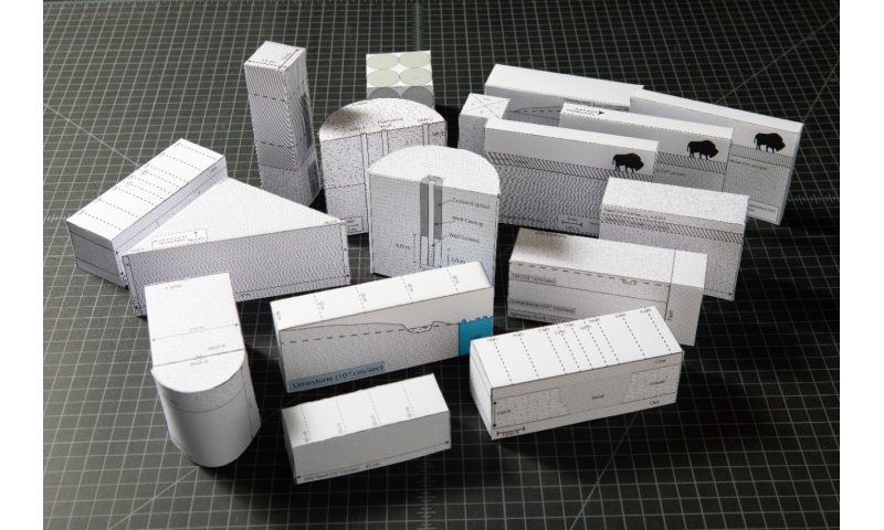 To help students think in 3D, a geologist turns to paper model making