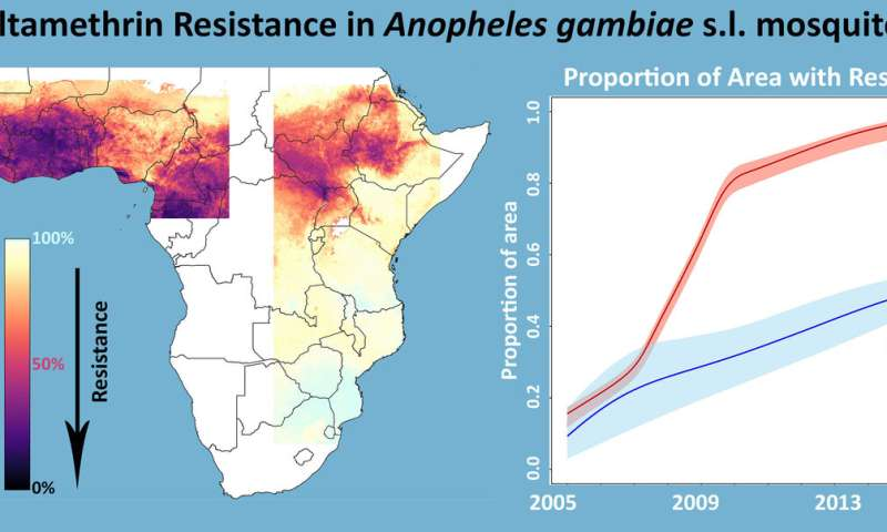 Tracking the spread of mosquito insecticide resistance across Africa