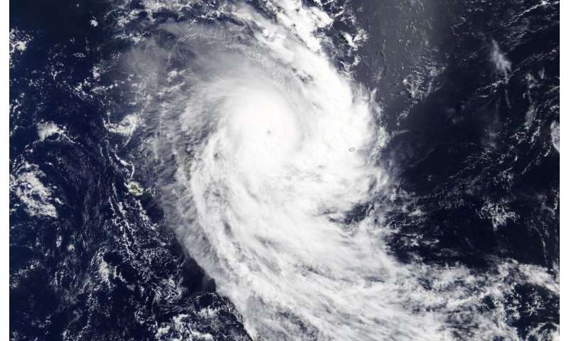Tropical Cyclone Herold's eye opens further on NASA satellite imagery
