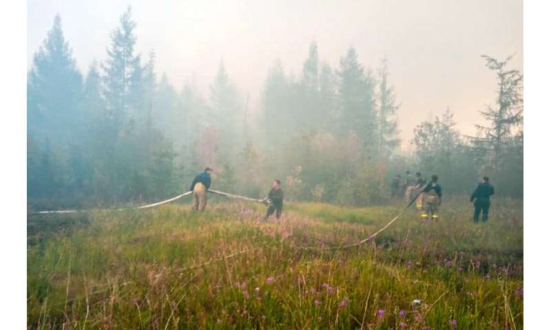 Uncontrolled forest fires across eastern Russia have sent more than half a billion tonnes of CO2 spiralling into the atmosphere