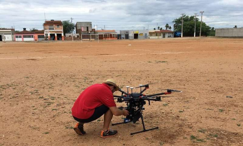 Using drones to reduce disease-spreading mosquito populations