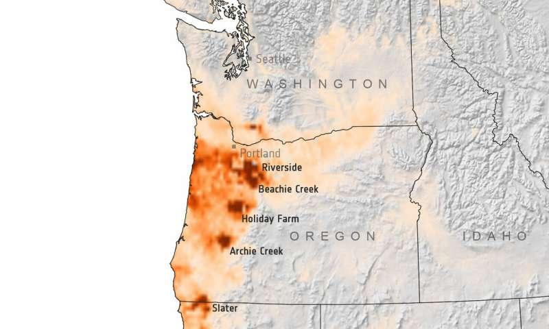 US West Coast on fire