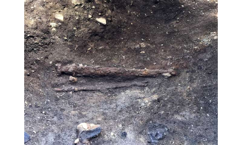 Viking sword found in grave in central Norway