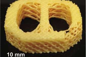 Researchers develop 3D-printable material that mimics biological tissues