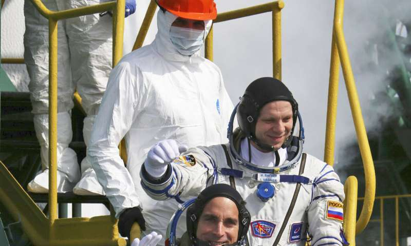 No social distancing in space: New crew greeted with hugs