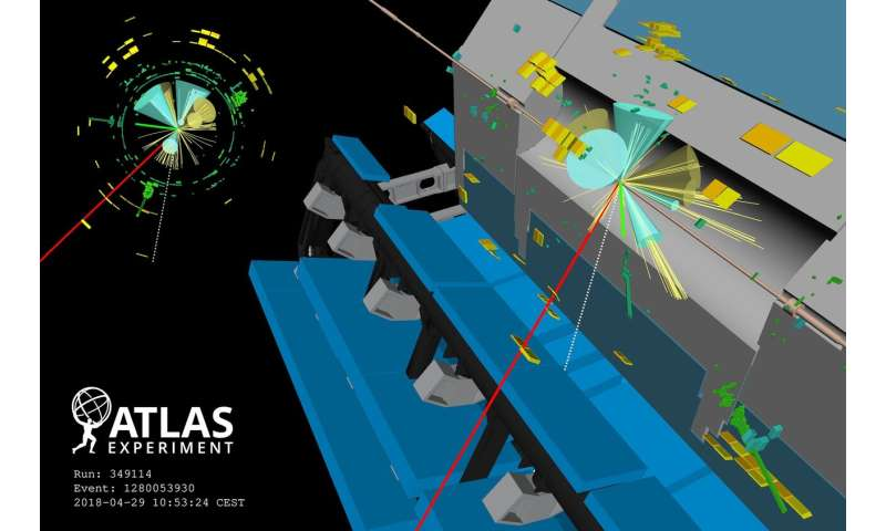 ATLAS Experiment finds evidence of spectacular four-top quark production