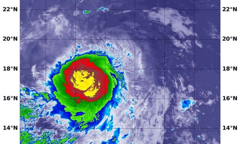 NASA analyzes Tropical Storm Lowell's very cold cloud tops