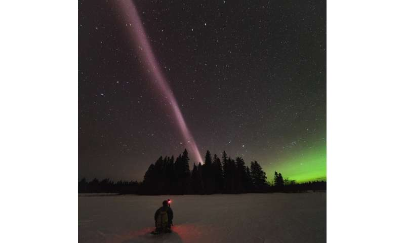 Scientists propose explanation for night sky glow of STEVE