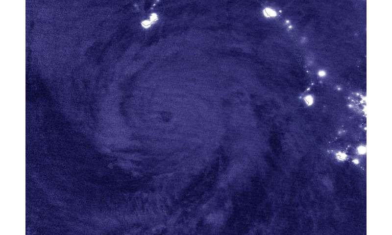 NASA-NOAA satellite provides overnight watch on hurricane Genevieve