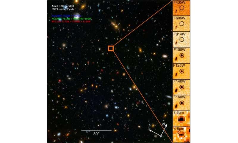 Découverte d'une galaxie lumineuse réionisant le milieu intergalactique local il y a 13 milliards d'années