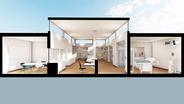 """Architect designs """"healthier"""" temporary ICUs for COVID-19 patients"""