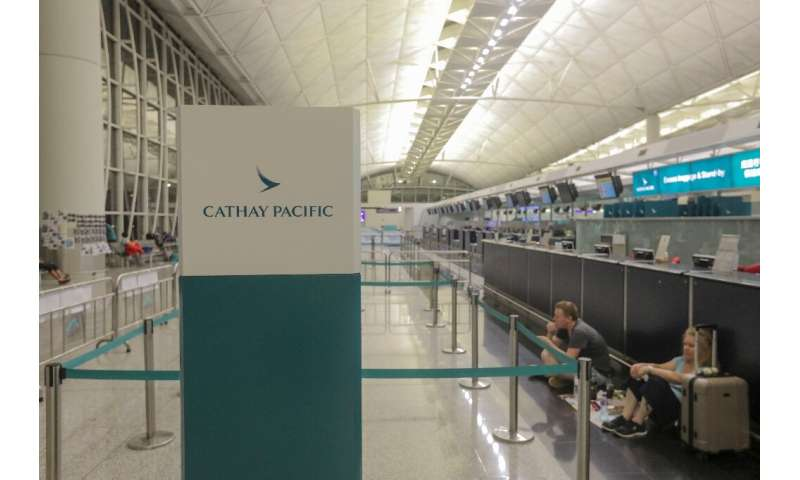Cathay Pacific has been batterred by the impact of coronavirus on travel, with passenger numbers down 76 percent on-year in the