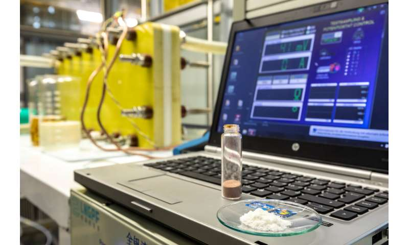 Ecological power storage battery made of vanillin