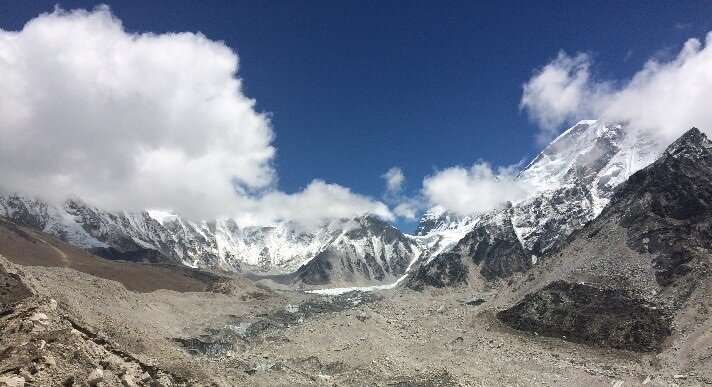 Everest region glaciers thinning at high altitudes