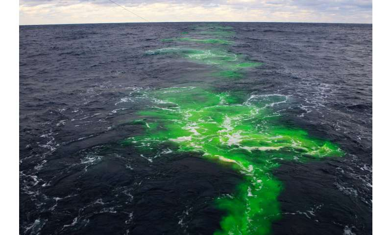 First direct evidence of ocean mixing across the gulf stream