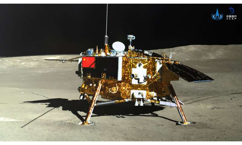 First measurements of radiation levels on the moon