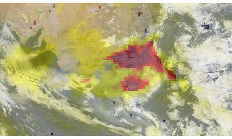 From smoke going round the world to aerosol levels, NASA observes Australia's bushfires