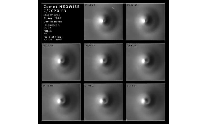 Gemini Observatory images reveal striking details of comet NEOWISE 2-geminiobserv