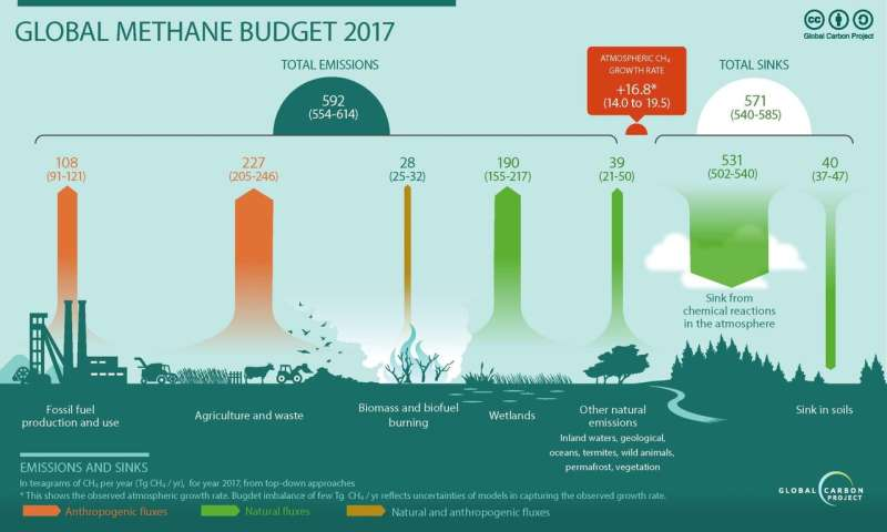 Global methane emissions soaring, but how much was due to wetlands?