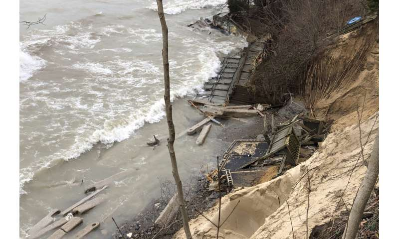 High water wreaks havoc on Great Lakes, swamping communities