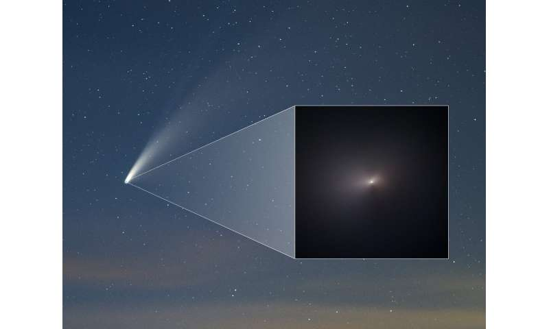 Hubble snaps close-up of celebrity comet NEOWISE