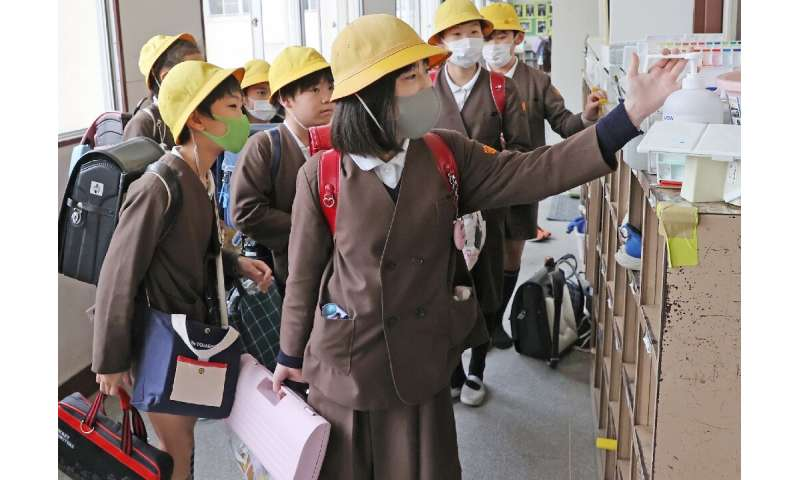 In Japan nearly all schools are closed through March and spring break