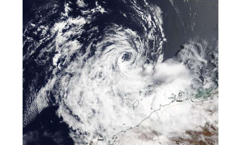 NASA finds ex-Tropical Cyclone 21S affecting Australia's Pilbara Coast