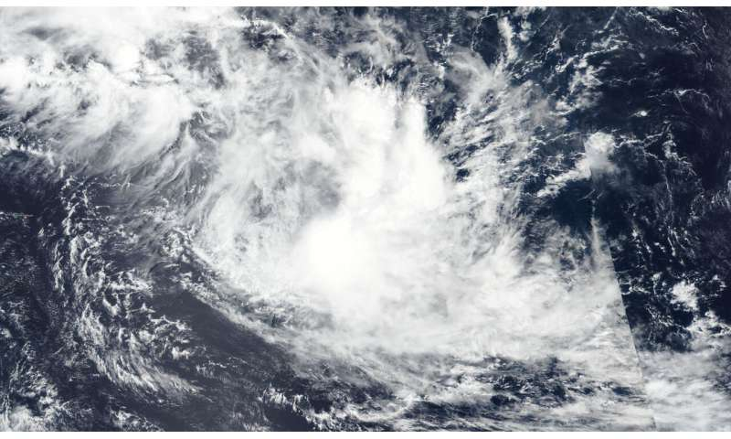 NASA satellite finds wind shear adversely affecting tropical storm Francisco