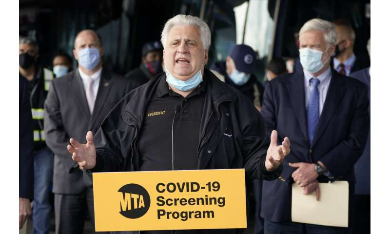 New York to increase testing of public transit workers