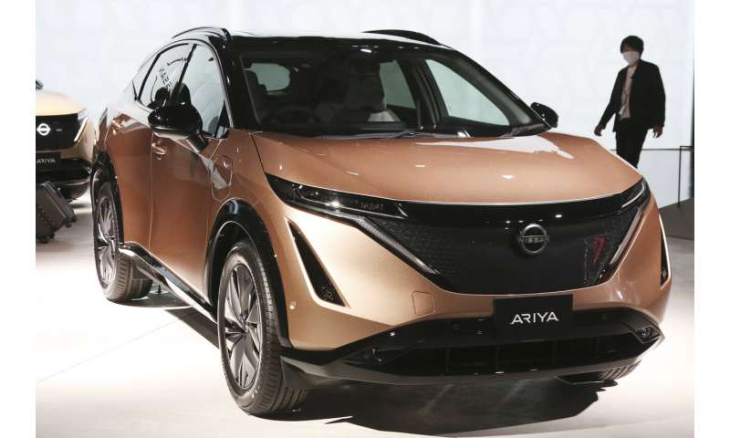 Nissan rolls out new electric crossover, aims to boost image