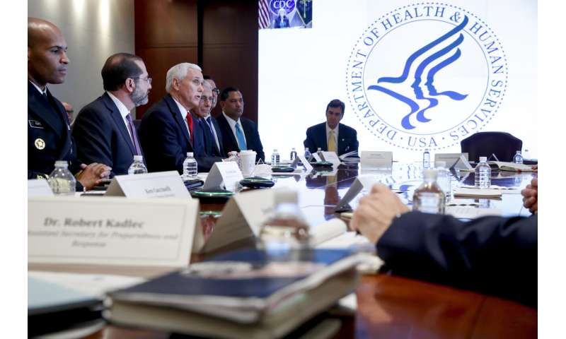 Pence tries to project calm as virus response coordinator
