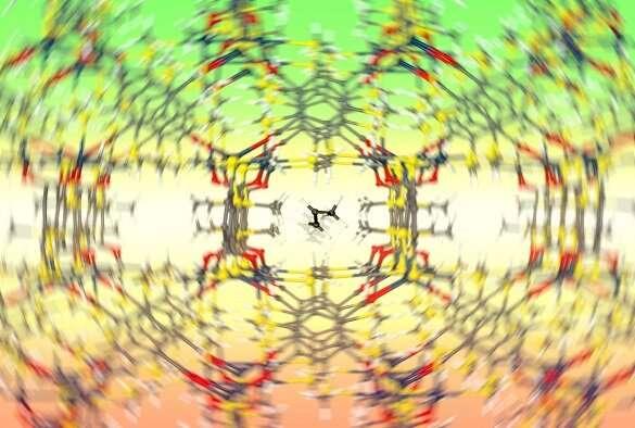 Separating gases using flexible molecular sieves